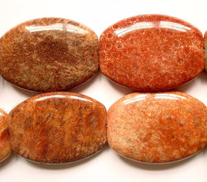 Red FossilCoral  -  Big Puff Oval Drum  16""