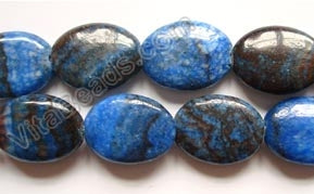 Blue Zebra Jasper Dark   - Puff Oval  16""