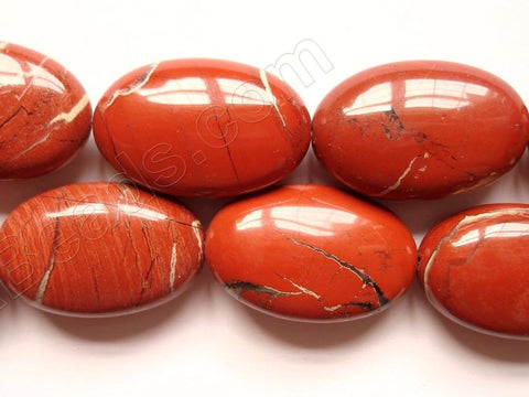 Red Jasper  -  Puff Oval Nugget  16""