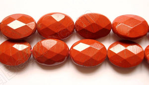 Red Jasper -  Faceted Oval  16""