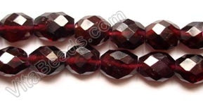 Garnet AA -  6-8 Faceted Oval  14.5""