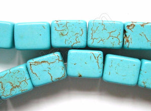 Cracked Chinese Turquoise  -  Big Cubes 16""