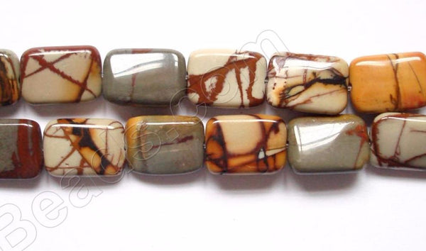 Fire Impression Jasper  -  Puff Rectangles  16""
