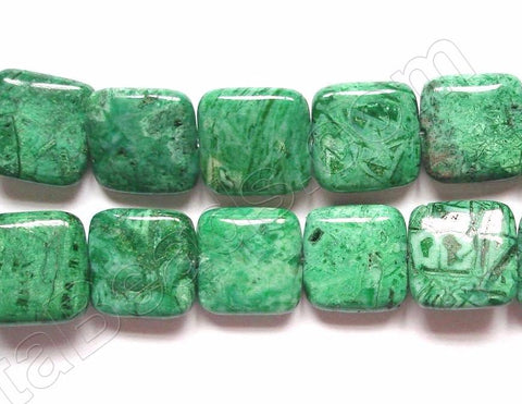 Turquoise Brazilian Agate  -  Puff Squares  16""