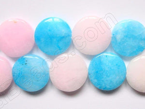 Hemimorphrite (Blue Pink)  -  Puff Coins  16""