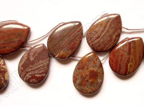 Surreal Jasper  -  Smooth Flat Briolette  16""