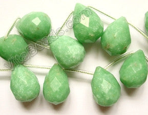Green Quartz - 13x18mm Faceted Teardrop 16""