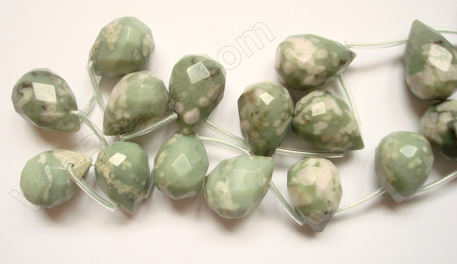 Peace Stone  - 13x18mm Faceted Teardrop  16""