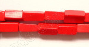 "Red Coral  -  Brick  14""    4 x 8 mm"
