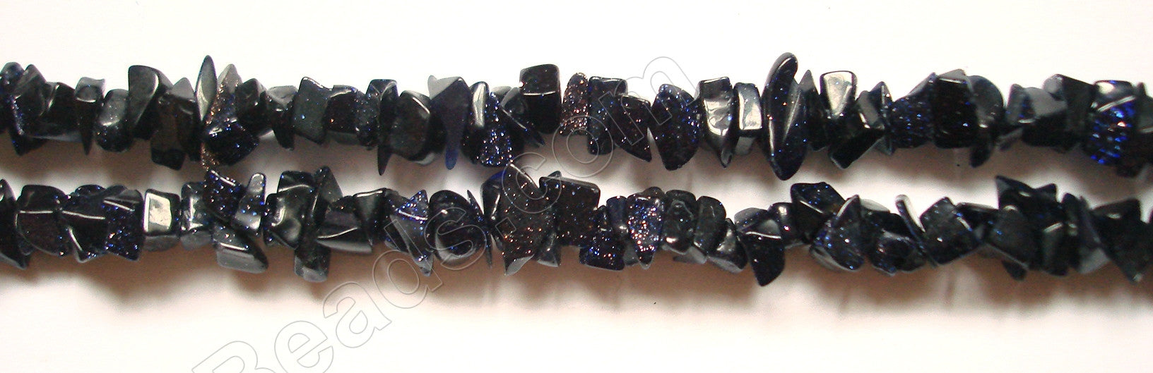 "Blue Goldstone (India)  -  Chips 36""    6 - 8 mm"