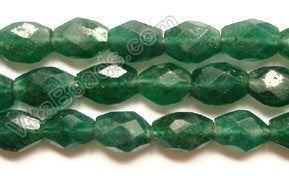 Green Aventurine (India Natural)  -  7-10mm Faceted Oval  14.5""