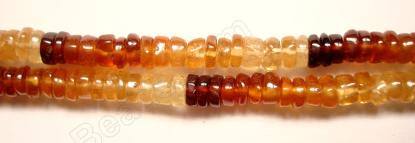 "Hessonite Garnet  -  Heishi  14""    3mm"