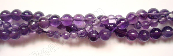 Gems Amethyst Dark  -  Smooth Round  14""