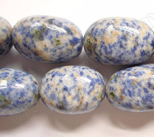 Blue Spot Stone  -  Big Smooth Egg Nuggets  16""