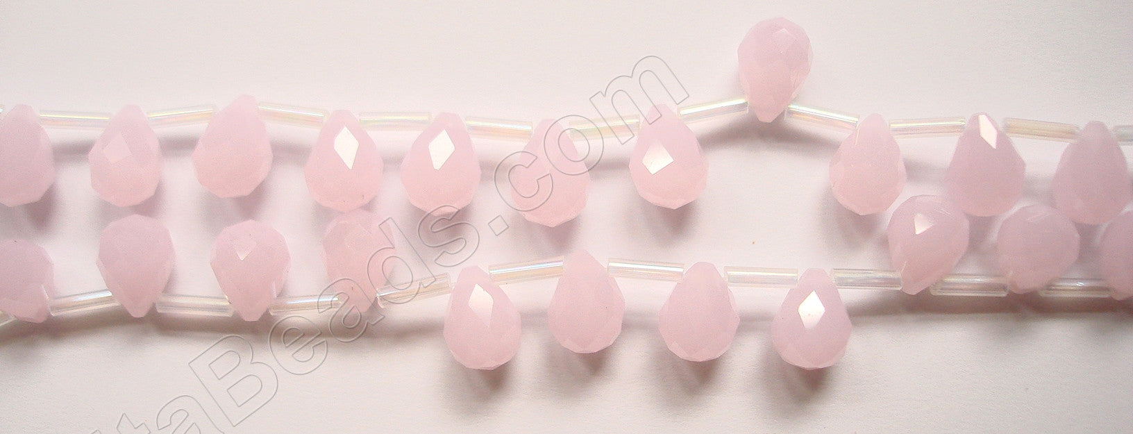 Pink Chalcedony - 7x10mm Faceted Teardrops  16""