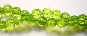 Peridot Crystal  -  Big Faceted Round  14""