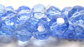 Sky Blue Crystal  -  Faceted Round  14""