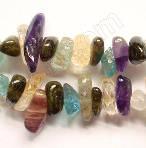 Tourmaline Citrine Amethyst and Apatite  -  Chip Nuggets  16""