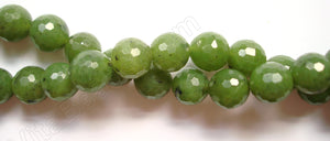 BC Jade AAA  -  Faceted Round Beads  16""