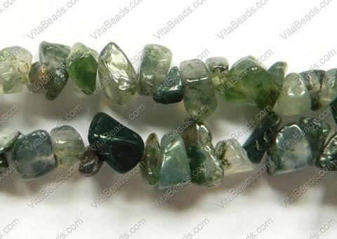 Moss Agate  -  Chips 36""