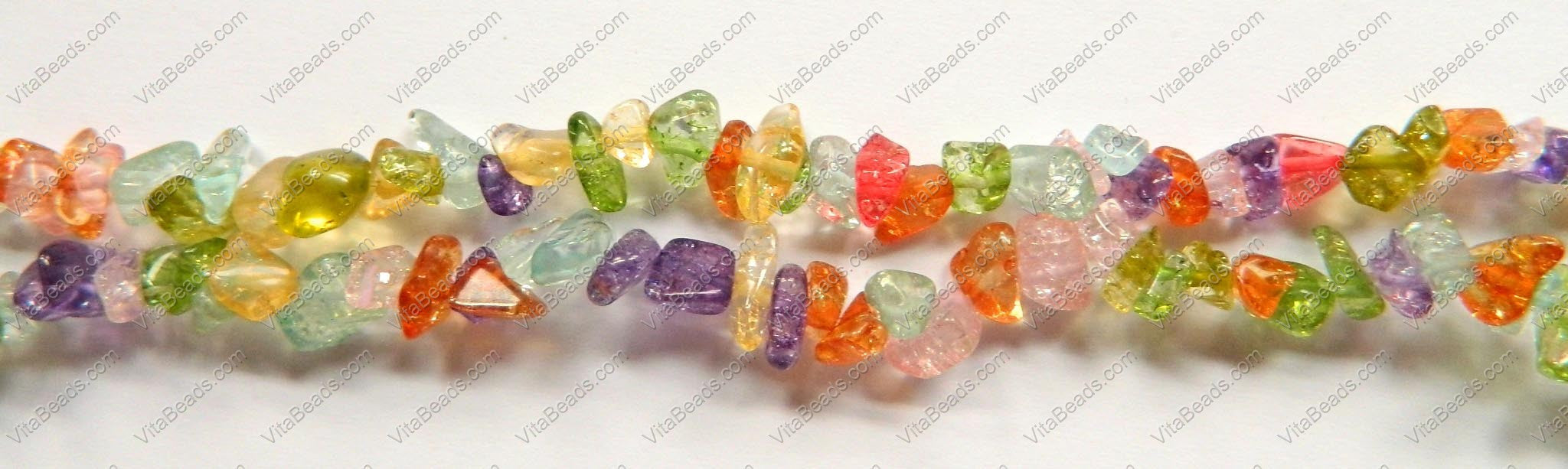 "Multicolor Explosion Crystal  -  Chips 36""    6 - 8 mm"