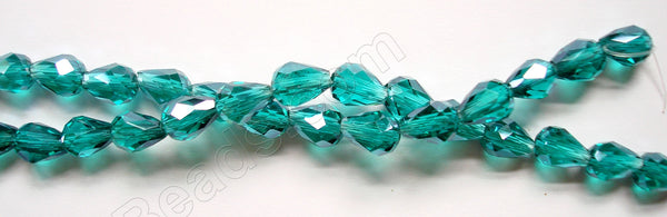 Emerald Crystal Quartz  -  5x8mm Faceted Drop 12""