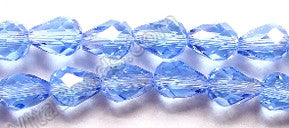 Sky Blue Crystal Quartz  -  5x8mm Faceted Drop 12""