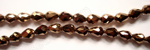 Bronzite Crystal Quartz AB  -  5x8mm Faceted Drop 12""