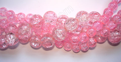 Explosion Crystal  -  Pink  -  Smooth Round  16""