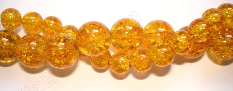 Explosion Crystal  -  Amber  -  Smooth Round  16""