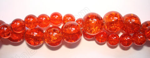 Explosion Crystal  -  Auburn Red  -  Smooth Round  16""