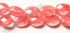 Cherry Quartz - Faceted Oval 16""