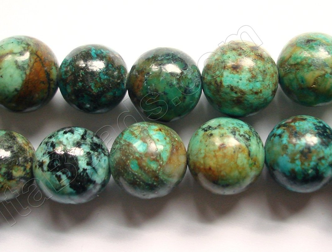 Africa Turquoise Dark  -  Smooth Round 16""