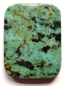 Africa Turquoise Pendant - 30x40mm Rectangle
