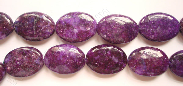 Lepidolite (Color Enhanced) -  Puff Ovals  16""