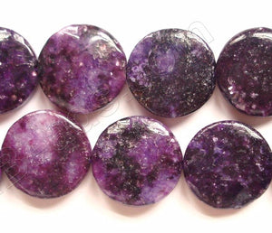 Lepidolite (Color Enhanced) -  Puff Coins  16""