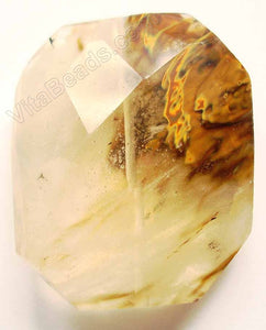 Golden Quartz Light - Faceted Nugget Pendant