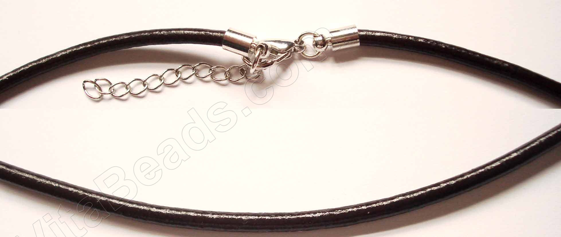 "Pandora Necklace Leather Cord 17"" Dark Brown"