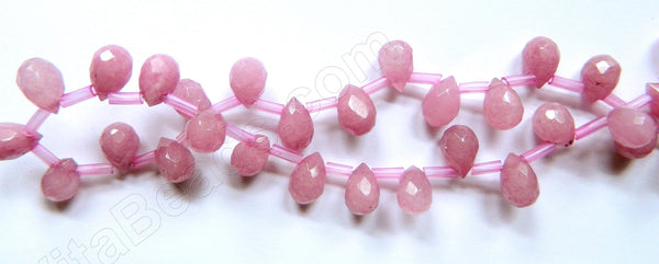 Dyed Jade Purple Pink - 7x10mm Faceted Teardrops 16""
