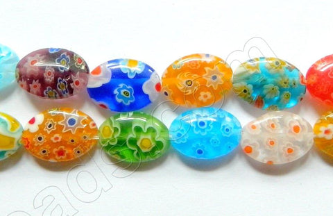 Glass Beads  -  Puff Oval - Mixed  16""