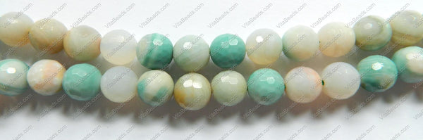 Magic Amazonite  -  Faceted Round Beads 15""