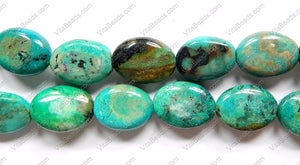 Chinese Chrysacolla  -  Puff Ovals  16""