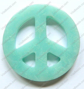 Chinese Amazonite Pendant - 45mm Round Peace Donut