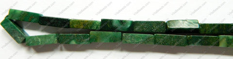 Africa Jade  -  4x13mm Rectangle 16""
