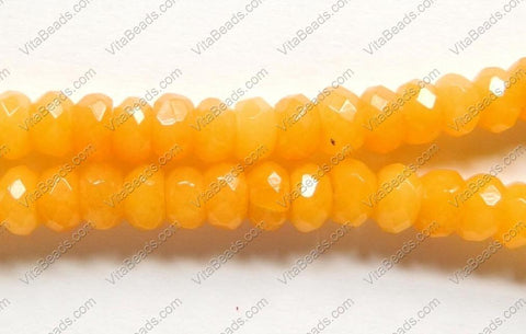 Yellow Jade  -  Faceted Rondel  15""