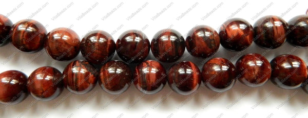 Red Tiger Eye AA  -  Smooth Round   16""