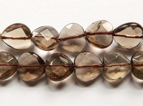 Smoky Topaz Light AA  -  Faceted Heart 16""