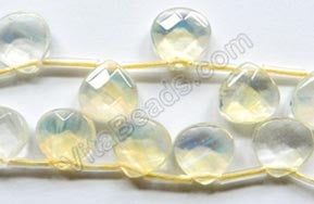 Pineapple Quartz  -  13mm Faceted Flat Briolette 16""
