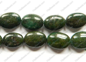 Green Pyrite A  -  Puff Ovals  16""