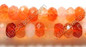Natural Carnelian AA  -  Faceted Rondel 15""